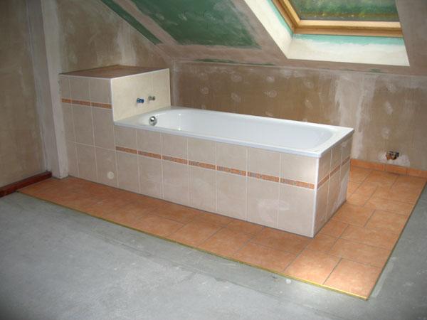Badewanne terracotta/beige